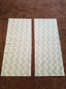 Two fabric cuts at 15.5in x 35.5in